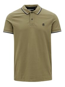 Khaki polo tričko Selected Homme Newseason
