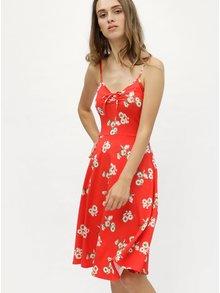 Červené květované šaty na ramínka Dorothy Perkins Tall