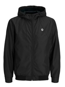Čierna vodovzdorná bunda s kapucňou Jack & Jones Rio