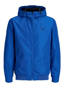 Modrá vodovzdorná bunda s kapucňou Jack & Jones Rio