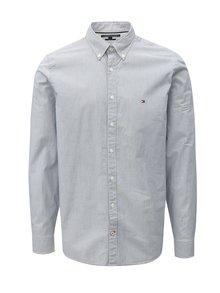 Bielo-modrá pánska slim fit pruhovaná košeľa Tommy Hilfiger
