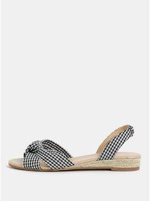 Sandale negru-alb in carouri Dorothy Perkins