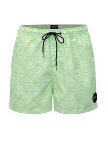 Pantaloni scurti de baie crem-verde cu model Quiksilver