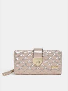 Veľká prešívaná peňaženka v ružovozlatej farbe Gionni Trina