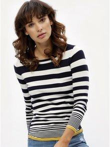 Bielo-modrý pruhovaný sveter M&Co