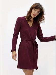 Vínové šaty s dlhým rukávom Dorothy Perkins