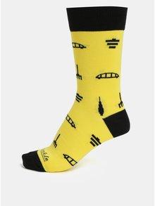 Žlté unisex ponožky Fusakle Archikony BA