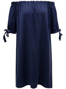 Tmavomodré šaty s odhalenými ramenami S.Oliver