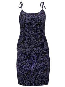 Fialovo-černé vzorované šaty s kapsami LOAP Amie
