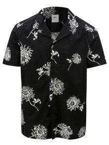 Camasa naegra cu model floral Burton Menswear London