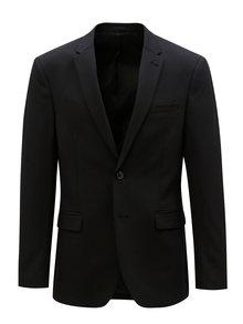 Čierne oblekové muscle fit sako Burton Menswear London