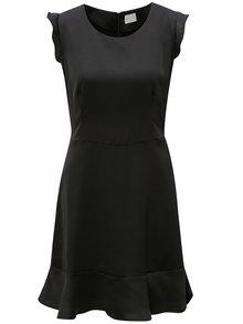 Čierne šaty s volánmi VILA Vicause