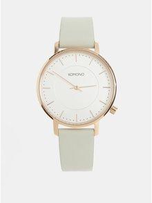 Svetlosivé dámske hodinky s koženým remienkom Komono The Harlow