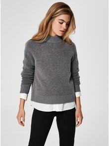 Pulover gri din lana Selected Femme