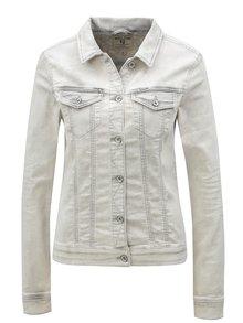 Jacheta de dama gri deschis din denim Garcia Jeans Sofia