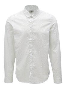 Bílá pánská vzorovaná košile Garcia Jeans