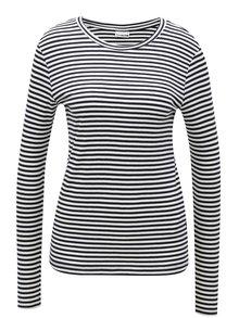 Čierno-biele pruhované tričko s dlhým rukávom Noisy May Melse
