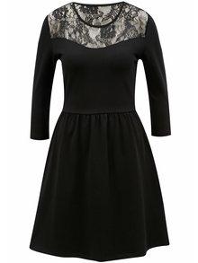 Čierne šaty s čipkou ONLY Neilla