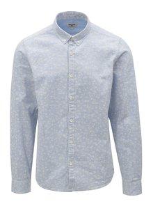 Svetlomodrá pánska vzorovaná košeľa Garcia Jeans