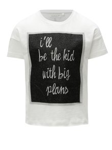 Biele dievčenské tričko s potlačou Name it Flela