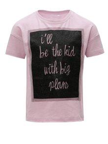 Fialové dievčenské tričko s potlačou Name it Flela