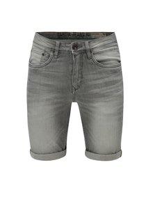 Sivé pánske rifľové kraťasy s vyšúchaným efektom Garcia Jeans Russo short