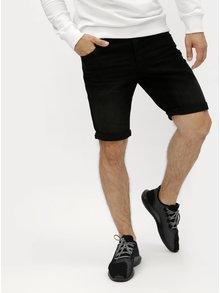 Černé džínové tapered fit kraťasy Shine Original