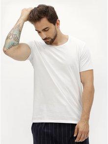 Biele pánske tričko s okrúhlym výstrihom Stanley & Stella