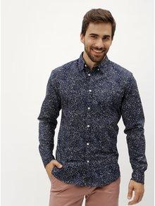 Tmavomodrá vzorovaná slim fit košeľa Selected Mase