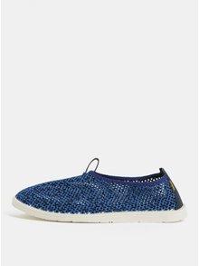 Modré pánské slip on s koženými detaily Oldcom Summer