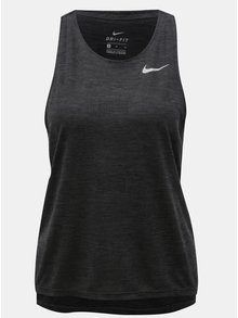 Sivé dámske vzorované funkčné tielko Nike Medalist
