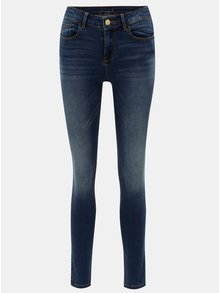Blugi albastri slim fit din denim VILA Vicommit
