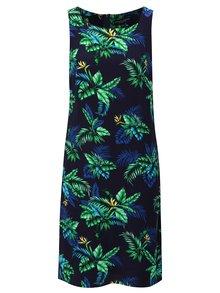 Tmavomodré šaty s tropickým vzorom Dorothy Perkins