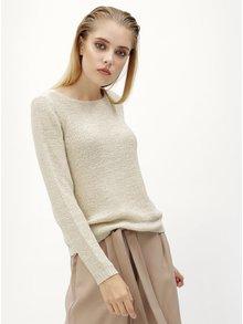 Krémový sveter s pásikmi na chrbte ONLY Gabbi String