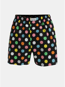 Boxeri negri cu buline Happy Socks Big Dot