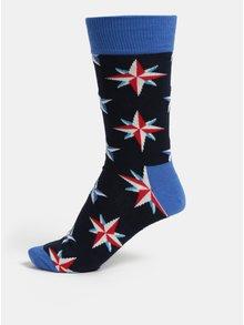 Sosete barbatesti albastre cu model Happy Socks Nautical Star Sock