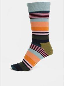 Sosete barbatesti albastru-oranj Happy Socks Multi Stripe