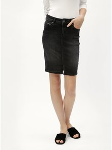 Fusta neagra din denim Pepe Jeans
