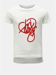 Krémové holčičí tričko s potiskem LIMITED by name it