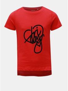 Červené dievčenské tričko s potlačou LIMITED by name it