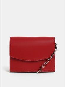 Červená crossbody kabelka Pieces Freja