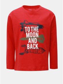 Červené klučičí tričko s dlouhým rukávem Name it