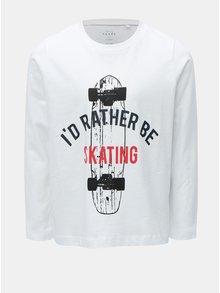 Biele chlapčenské tričko s dlhým rukávom Name it
