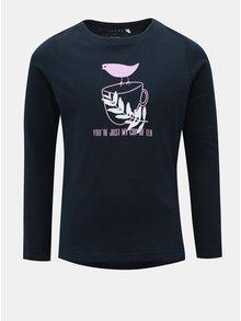 Modré dievčenské tričko s dlhým rukávom Name it