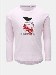 Ružové dievčenské tričko s dlhým rukávom Name it
