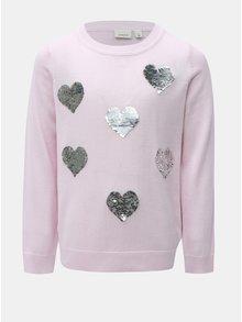 Růžový holčičí svetr s magickými flitry Name it