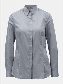 Sivá dámska pruhovaná košeľa so skrytou légou VAVI