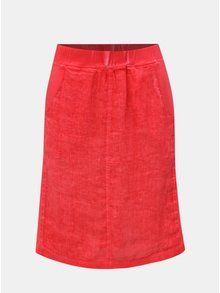Červená ľanová sukňa Yest