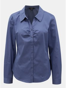 Modrá košeľa s dlhým rukávom Yest