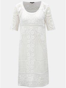 Biele čipkované šaty Yest